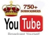 add you 750+ Real YouTube Subscribers without admin access