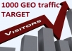 send 500 REAL TARGET GEO TRAFFIC to your website. Real visits. Target Geo. USA traffic!!! Fast job!!!. You choose the referrer site