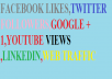 teach you many ways to get facebook likes,twitter followers,youtube views,web traffic google +1,more than 1000/day