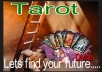 Ask the question that you seek. I will give you a past, present and Future Tarot Card READING for you. I will photograph the resulting cards and send you your reading.