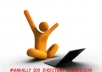 do 200 web directory submissions manually for your website and give approval links