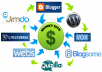 create MANUALLY a linkwheel with 5 high pr blog and give you the full control of them