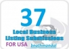 submit your business details on the 37 top US citations sites  to boost your google places listing