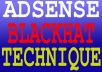 give you Ultimate blackhat technique for ADSENSE business by which you will be succeed in no time