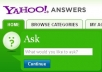 post 30 yahoo answers linking to your site in any niche