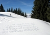 write your message or any Text on Snow