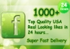 give you 1000+ Quality and Parmanent Real Looking USA Fb Likes within 24 hours