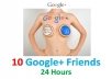 add 10 Google+ Plus Friends to your Circle