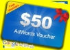 give you $50 Google Adwords coupon