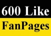 give you GENUINE 600+ Facebook Likes to your Fan Pages within 2 hours