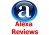 write two ALEXA Review after checking your website