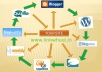 create 50+ high PR web2 blogs and submit your article with backlinks to your site