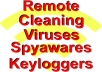 remotely fix and clean any virus, malware or spyware from your computer also i will optimize your computer to work faster