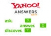 answer 12 questions on yahoo answers with your link in the source box from level 2 account