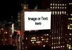 create this night CITY billboards intro animation showcasing your images photos pictures for your website business service product