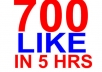 give you 700 real Facebook likes to your fan page
