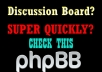 install a ♛ discussion board ♛ to your website within 12 hours