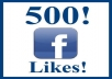 give you 500+ real Facebook likes to your fan page