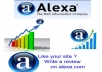 give you amazing 25 alexa ★★★★★ star review for your website or blog from different users