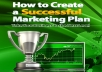 tell you How to Create a Successful Marketing Plan