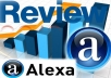 give You 25 Organic Alexa Reviews About Your Website By Different People