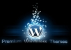 setup wordpress site with a top theme of your choice