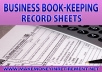 Delivered in .pdf format, the pack of 25 record sheets includes :  1.  General Business Expenses (Deductions) 2.  Paypal Report (Sales/Expenses) 3.  Advertising 4.  Commission & Fees 5.  Interest 6.  Legal & Professional Services 7.  Office Expenses 8.  Rent or Lease of Equipment  9.  Rent or Lease of Property 10.  Repairs & Maintenance 11.  Supplies 12.  Taxes & Licenses 13.  Travel 14.  Meals & Entertainment  and 11 others...