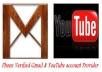provide 25 phone verified Gmail or YouTube ID/account with in 24 hours