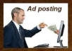 post you ad on 30 sites of PR 1to 5