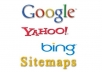 create XML sitemap ►Google Bing Yahoo Friendly◄ upload it to your server and  webmasters account