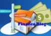 add your 1 guest Blog Posts and LINKS on my Finance niche or any Related Niche Blogs