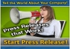 MANUALLY submit your press release to top 15 press release sites