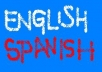Translate English Spanish texts