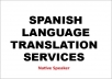 Translate Any Article From English to Spanish and vice versa Upto 500 Words