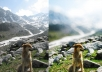 transform three of your images into a professional bokeh photo in photoshop