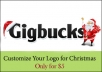 make your logo or header ready for Christmas