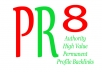 create 10 PR8 backlinks High Value Authority Profile from different PR 8 domains Panda Penguin Friendly most are DoFollow with Anchor Text