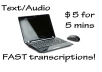 transcribe up to 5 minutes of audio/video