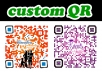 create 1 Custom QR code designs for a single website url or a business contact with your logo or image