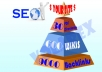 create linkpyramid with 30 level 1 docs sharing sites, 600 level 2 high pr wikis and 9000 level 3 backlinks
