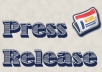 write a press release to boost your marketing efforts