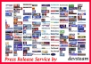 submit PRESS RELEASE SUBMISSION to 10 Top PR sites, 100% manual process