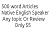 Write a 500 word Article on a keyword
