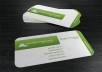 I will design a professional two sided business card that looks very matching with your business. You will be given times to review as much until you are satisfied.