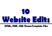 make 10 page edits to your HTML or PHP website