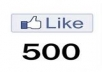 give u 500 likes on your fanpage