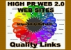 provide you a List to 500 HIGH PR WEB 2.0 WEB SITES