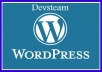 Install wordpress blog and ur theme aslo install necessary plugins only