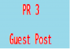 add a guest post to my 12 year old PR 3 outdoor/travel blog