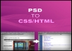 convert your photoshop PSD file into css html file